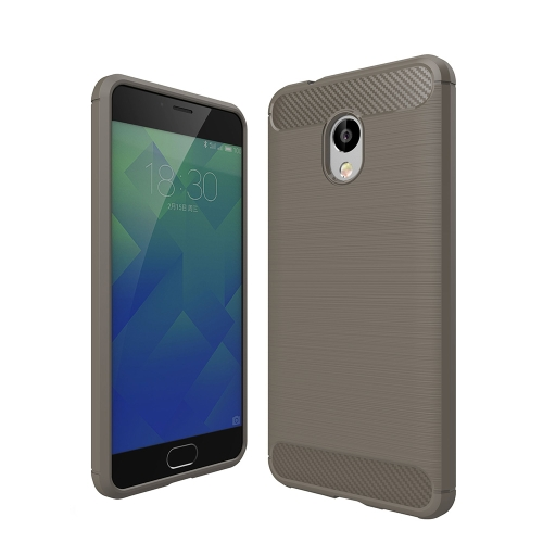 Buy Meizu M5S Brushed Carbon Fiber Texture Shockproof TPU Protective Cover Case, Grey for $2.02 in SUNSKY store