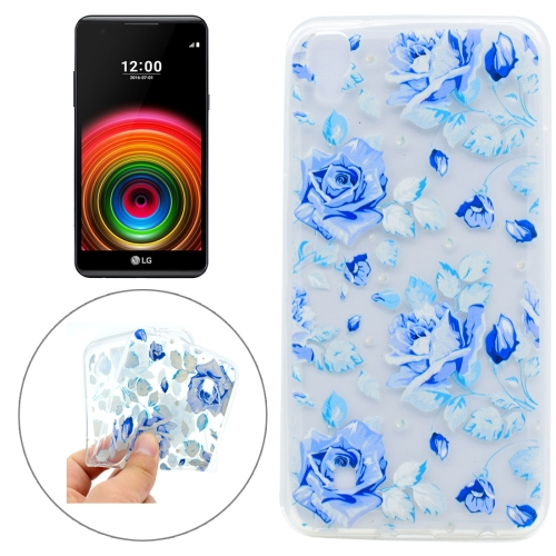 Buy For LG X Power Colorful Blue Flower Pattern TPU Protective Case for $1.16 in SUNSKY store