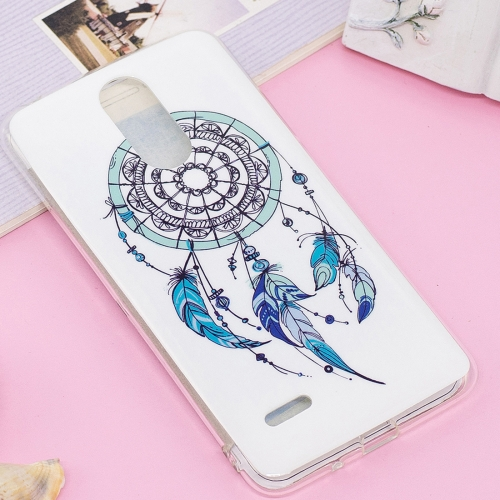 Buy For LG K8, 2017  (EU Version) Noctilucent IMD Feather Dream Catcher Pattern Soft TPU Back Case Protector Cover for $1.40 in SUNSKY store
