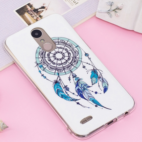 Buy For LG K10, 2017 (US Version) Noctilucent IMD Feather Dream Catcher Pattern Soft TPU Back Case Protector Cover for $1.40 in SUNSKY store
