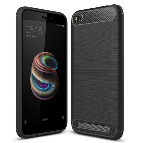 Buy Xiaomi Redmi 5A Brushed Texture Carbon Fiber Shockproof TPU Rugged Armor Protective Case, Black for $2.02 in SUNSKY store