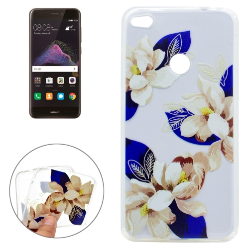 Buy Huawei P8 Lite, 2017 Blue and White Flower Pattern Soft TPU Protective Case for $1.18 in SUNSKY store