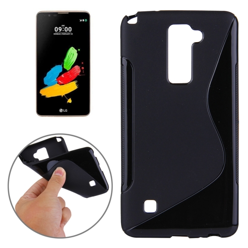Buy For LG Stylus 2 S-Shaped Soft TPU Protective Cover Case, Black for $1.27 in SUNSKY store