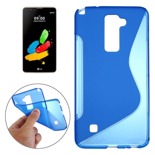 Buy For LG Stylus 2 S-Shaped Soft TPU Protective Cover Case (Dark Blue) for $1.27 in SUNSKY store
