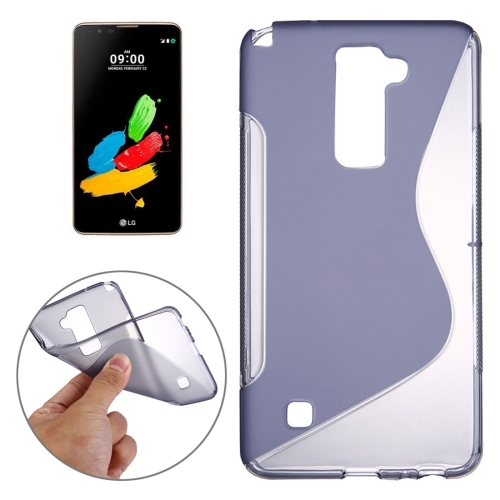 Buy For LG Stylus 2 S-Shaped Soft TPU Protective Cover Case, Grey for $1.27 in SUNSKY store