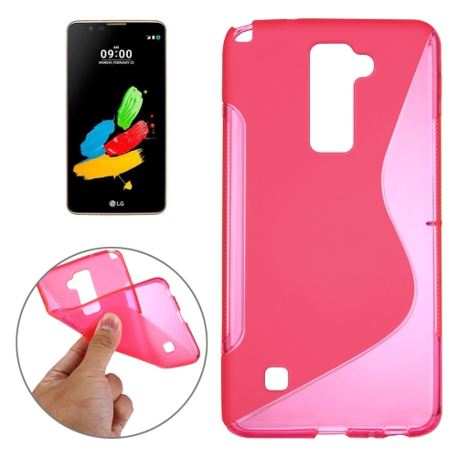 Buy For LG Stylus 2 S-Shaped Soft TPU Protective Cover Case, Magenta for $1.27 in SUNSKY store