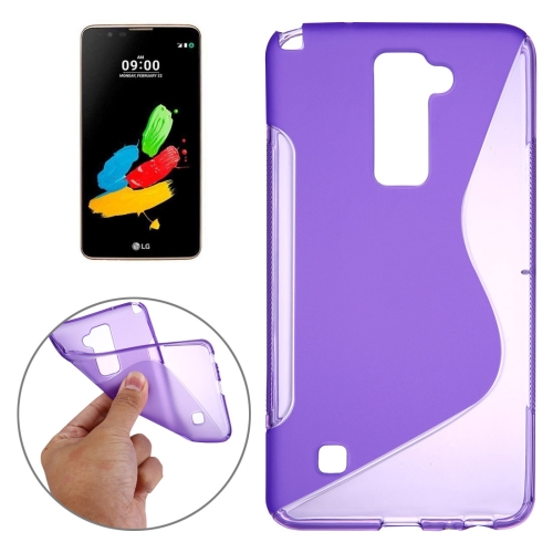 Buy For LG Stylus 2 S-Shaped Soft TPU Protective Cover Case, Purple for $1.20 in SUNSKY store