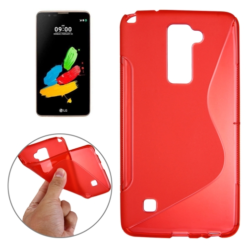 Buy For LG Stylus 2 S-Shaped Soft TPU Protective Cover Case, Red for $1.27 in SUNSKY store