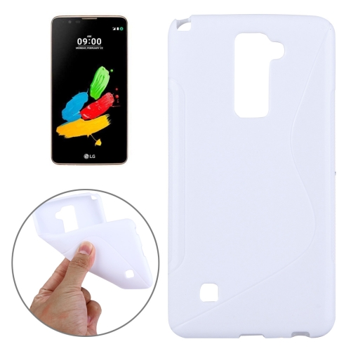 Buy For LG Stylus 2 S-Shaped Soft TPU Protective Cover Case, White for $1.27 in SUNSKY store