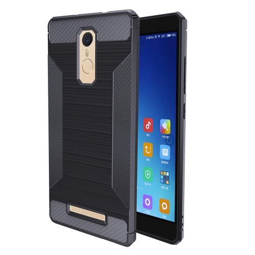 Buy Xiaomi Redmi Note 3 Brushed Texture Carbon Fiber Anti-slip TPU Protective Cover Case, Grey for $1.88 in SUNSKY store