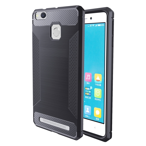 Buy Xiaomi Redmi 3 / 3s / 3 Pro Brushed Texture Carbon Fiber Anti-slip TPU Protective Cover Case, Grey for $1.83 in SUNSKY store