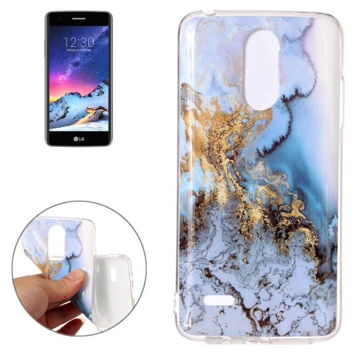 Buy For LG K8, 2017 (EU Version) Blue Marble Pattern TPU Shockproof Protective Back Cover Case for $1.20 in SUNSKY store