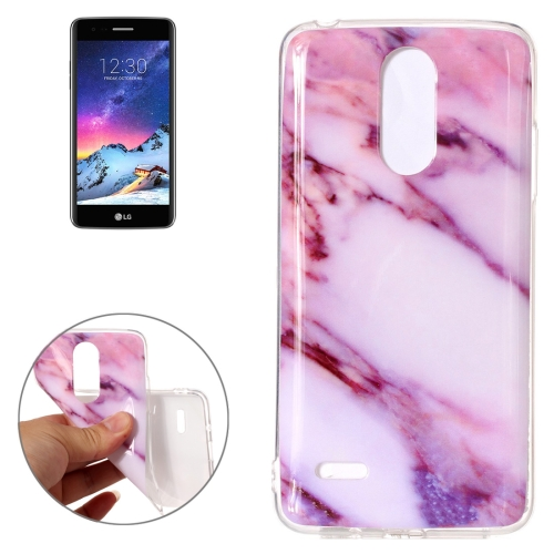 Buy For LG K8, 2017 (EU Version) Pink Marble Pattern TPU Shockproof Protective Back Cover Case for $1.23 in SUNSKY store