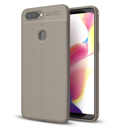 Buy OPPO R11s Plus Litchi Texture Soft TPU Anti-skip Protective Cover Back Case, Grey for $2.28 in SUNSKY store