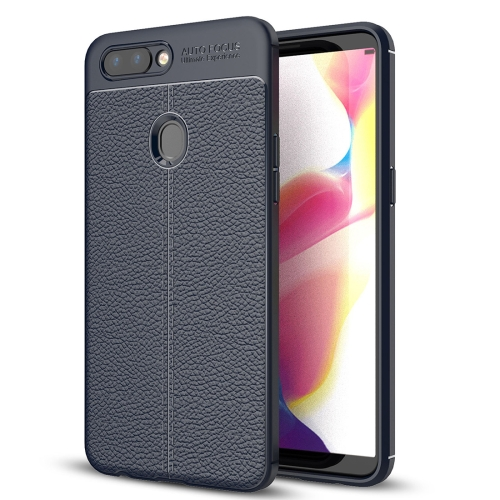 Buy OPPO R11s Plus Litchi Texture Soft TPU Anti-skip Protective Cover Back Case (Navy Blue) for $2.28 in SUNSKY store