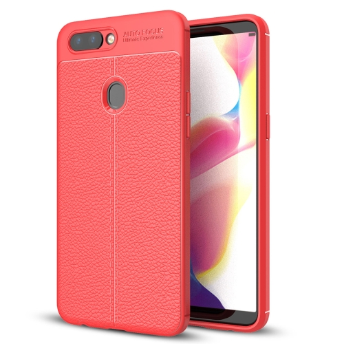 Buy OPPO R11s Plus Litchi Texture Soft TPU Anti-skip Protective Cover Back Case, Red for $2.28 in SUNSKY store