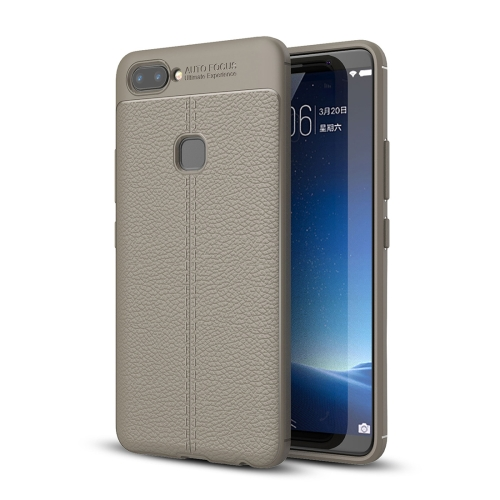 Buy Vivo X20 Litchi Texture Full Coverage TPU Protective Back Cover Case, Grey for $2.29 in SUNSKY store