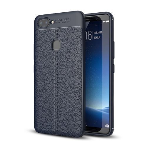 Buy Vivo X20 Litchi Texture Full Coverage TPU Protective Back Cover Case (Navy Blue) for $2.29 in SUNSKY store