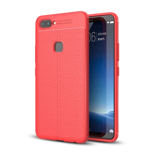 Buy Vivo X20 Litchi Texture Full Coverage TPU Protective Back Cover Case, Red for $2.29 in SUNSKY store