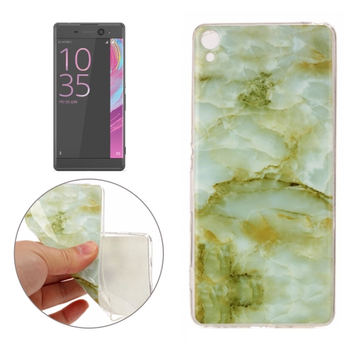 Buy For Sony Xperia XA Green Marble Pattern Soft TPU Protective Case for $1.16 in SUNSKY store