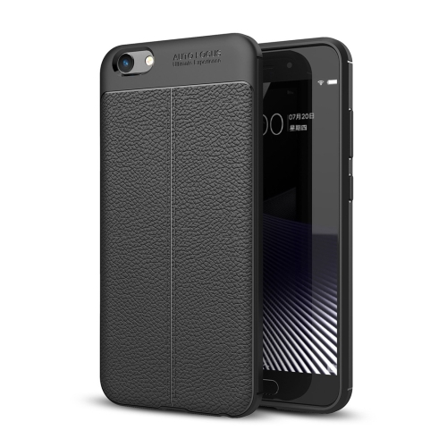 Buy Vivo Y69 Litchi Texture Full Coverage TPU Protective Back Cover Case, Black for $2.29 in SUNSKY store