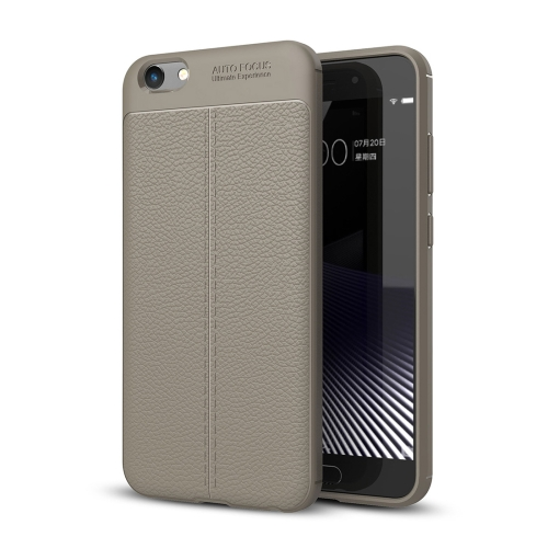 Buy Vivo Y69 Litchi Texture Full Coverage TPU Protective Back Cover Case, Grey for $2.29 in SUNSKY store