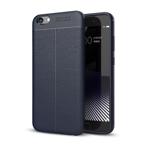 Buy Vivo Y69 Litchi Texture Full Coverage TPU Protective Back Cover Case (Navy Blue) for $2.29 in SUNSKY store