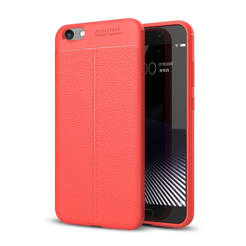 Buy Vivo Y69 Litchi Texture Full Coverage TPU Protective Back Cover Case, Red for $2.29 in SUNSKY store
