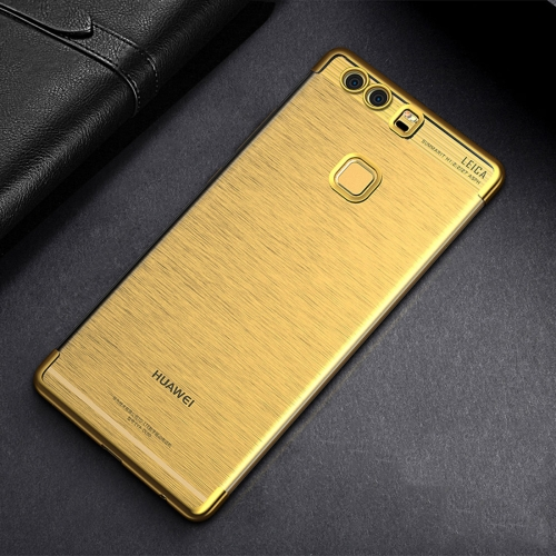 Buy CAFELE For Huawei P9 Color Electroplating TPU Soft Protective Back Cover Case, Gold for $3.28 in SUNSKY store