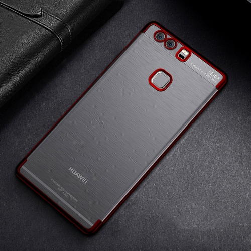 Buy CAFELE For Huawei P9 Color Electroplating TPU Soft Protective Back Cover Case, Red for $3.28 in SUNSKY store