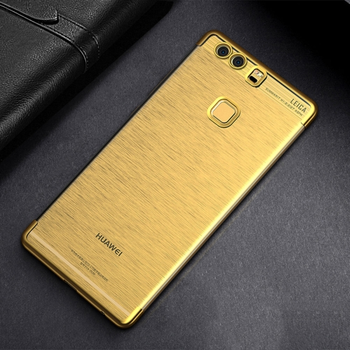 Buy CAFELE For Huawei P9 Plus Color Electroplating TPU Soft Protective Back Cover Case, Gold for $3.44 in SUNSKY store