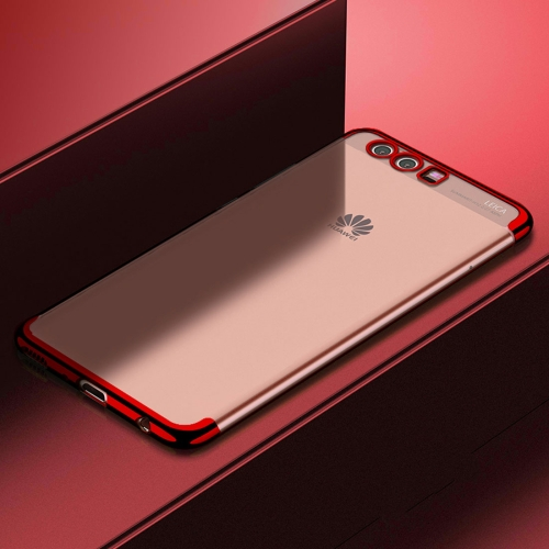 Buy CAFELE For Huawei P10 Plus Color Electroplating TPU Soft Protective Back Cover Case, Red for $3.28 in SUNSKY store