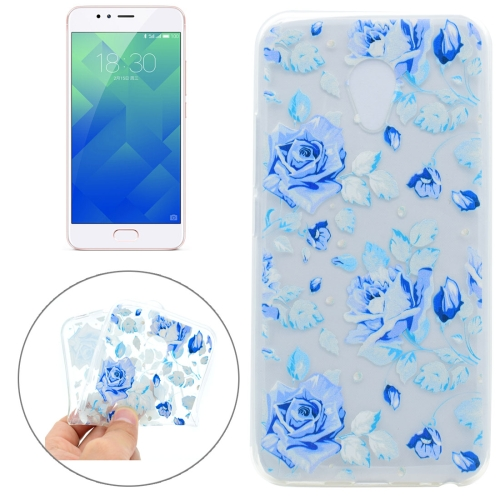 Buy Meizu M5S Colorful Blue Flower Pattern TPU Protective Case for $1.16 in SUNSKY store