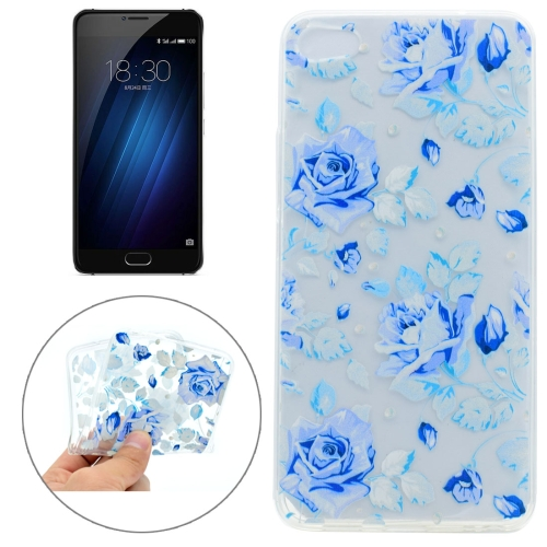Buy Meizu U10 Colorful Blue Flower Pattern TPU Protective Case for $1.16 in SUNSKY store