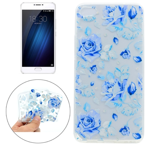 Buy Meizu U20 Colorful Blue Flower Pattern TPU Protective Case for $1.20 in SUNSKY store