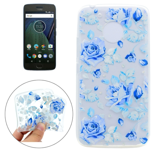 Buy For Motorola Moto G5 Plus Colorful Blue Flower Pattern TPU Protective Case for $1.17 in SUNSKY store