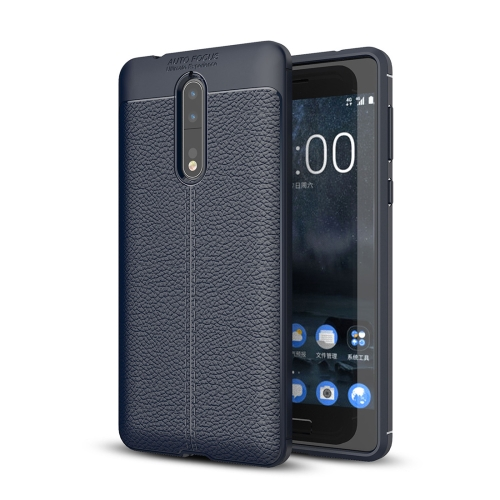 Buy For Nokia 8 Litchi Texture Design Soft TPU Anti-skip Protective Cover Back Case, navy for $2.17 in SUNSKY store