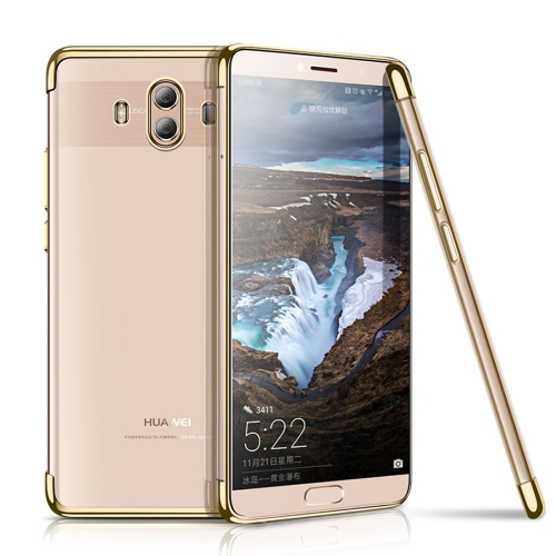 Buy CAFELE Huawei Mate 10 Ultra-thin Electroplating Soft TPU Full Coverage Protective Back Cover Case, Gold for $3.44 in SUNSKY store