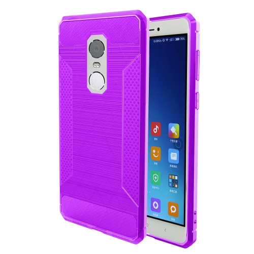 Buy Xiaomi Redmi Note 4X Brushed Texture Carbon Fiber Anti-slip TPU Protective Cover Case, Purple for $1.88 in SUNSKY store