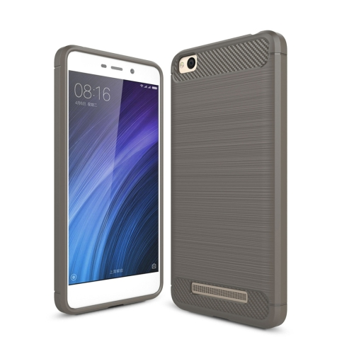 Buy Xiaomi Redmi 4A Brushed Texture Carbon Fiber Shockproof TPU Rugged Armor Protective Case, Grey for $2.01 in SUNSKY store