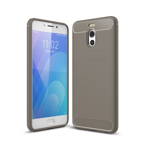 Buy Meizu M6 Note Brushed Texture Carbon Fiber Shockproof TPU Rugged Armor Protective Case, Grey for $2.01 in SUNSKY store