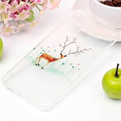 Buy For Huawei P10 Lite Tree Branch Elk Pattern High Transparency Soft TPU Protective Case for $1.41 in SUNSKY store