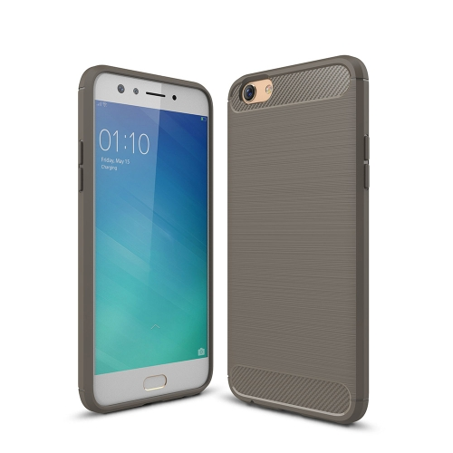 Buy OPPO F3 Brushed Texture Carbon Fiber Shockproof TPU Rugged Armor Protective Case, Grey for $2.02 in SUNSKY store