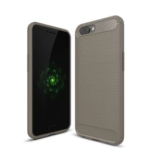 Buy OPPO R11 Plus Brushed Texture Carbon Fiber Shockproof TPU Rugged Armor Protective Case, Grey for $2.01 in SUNSKY store