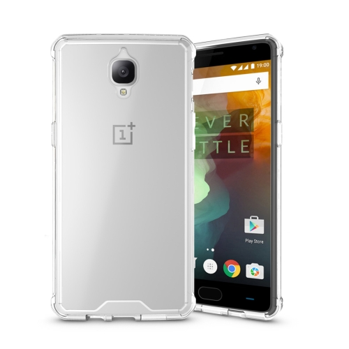 Buy For Oneplus 3 Acrylic + TPU Transparent Armor Protective Case, Transparent for $2.30 in SUNSKY store