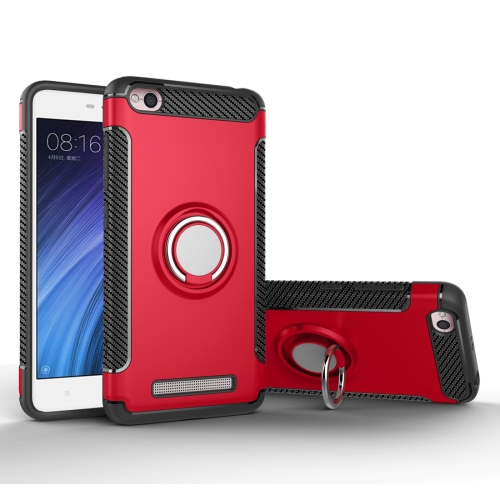 Buy Xiaomi Redmi 4A Magnetic 360 Degree Rotation Ring Armor Protective Case, Red for $2.28 in SUNSKY store