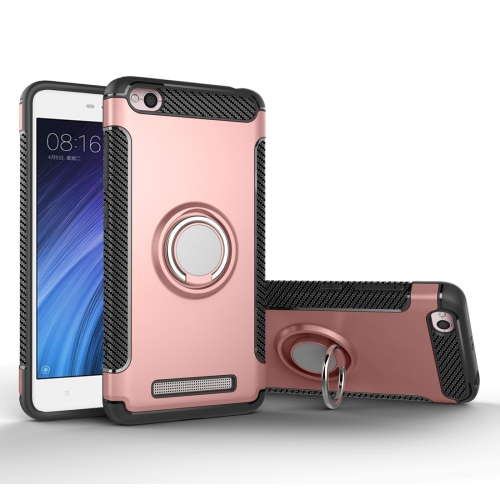 Buy Xiaomi Redmi 4A Magnetic 360 Degree Rotation Ring Armor Protective Case (Rose Gold) for $2.28 in SUNSKY store