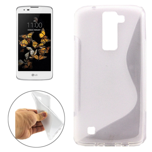 Buy For LG K8 S-Shaped Soft TPU Protective Cover Case, Transparent for $1.01 in SUNSKY store