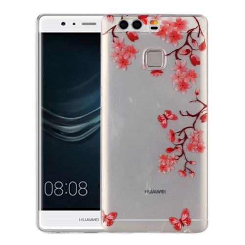 Buy Huawei P9 Maple Leaves Pattern IMD Workmanship Soft TPU Protective Case for $1.27 in SUNSKY store
