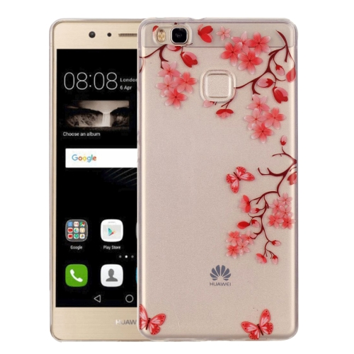 Buy Huawei P9 Lite Maple Leaves Pattern IMD Workmanship Soft TPU Protective Case for $1.27 in SUNSKY store